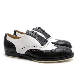 T & F Slack Shoemakers Monochrome Leather Brogues