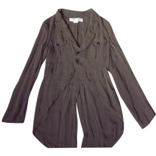 Comme Des Garcons Olive Tailcoat Style Shirt