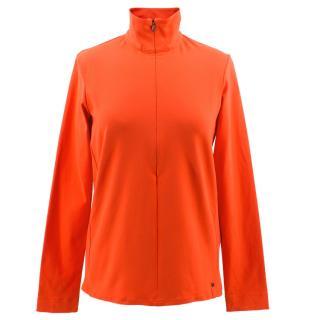 Ralph Lauren RLX Neon Orange Ski Top