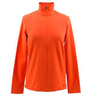 Ralph Lauren RLX Neon Orange Ski Top
