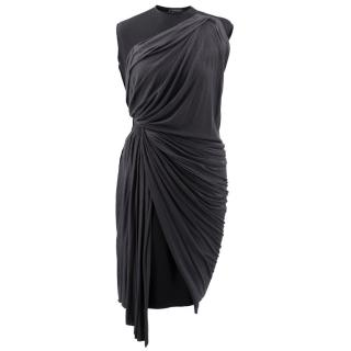 Lanvin Neoprene Dress With Grey Jersey Draping