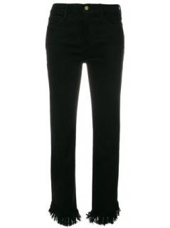 Frame Denim frayed hem skinny jeans