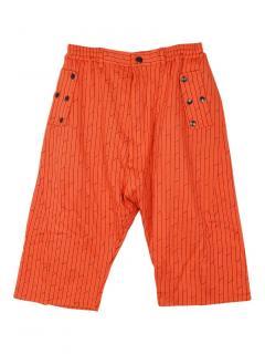 Vivienne Westwood Man drawstring orange linear print shorts