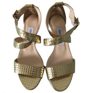 Jimmy Choo Chiara Gold wedge sandals