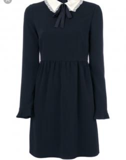 Red Valentino Black dress with pie frill collar and bow