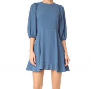 Red Valentino blue flared dress