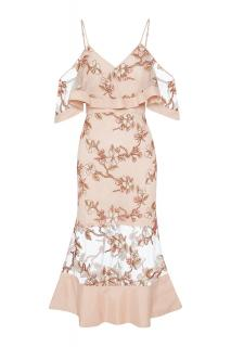 Alice McCall Crystalised Dress Blush Blossom