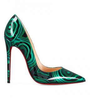 Christian Louboutin Vert Patent Malachite So Kate