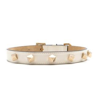 Jimmy Choo White Dog Collar