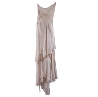Marni silk wedding dress two piece.