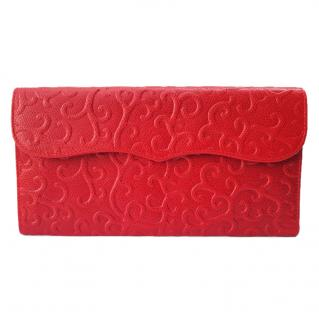 YSL Yves Saint Laurent Vintage Red Leather Wallet