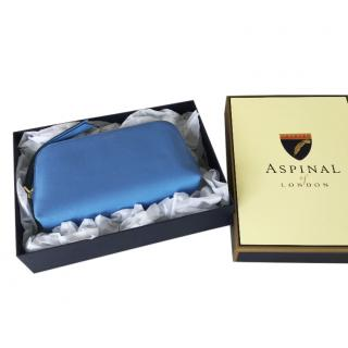 Aspinal blue leather pouch