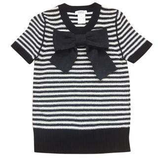 Sonia by Sonia Rykiel black and white top
