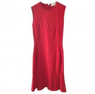 Stella McCartney red cotton/spandex dress