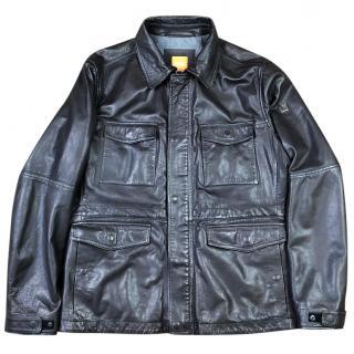 Hugo Boss Jicasso Leather Field Jacket