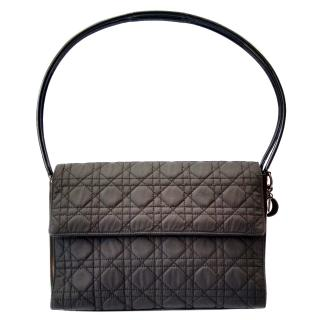 Christian Dior Vintage Black Cannage Quilted Shoulder Bag .