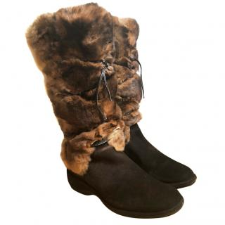 Baldinini Fur Winter Boots