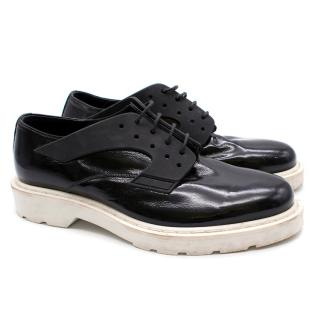 Alexander McQueen Black Patent Leather Derbys