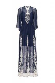 Alice + Olivia Embroidered Maxi Dress