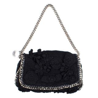 Stella McCartney Black Flower Textured Bag