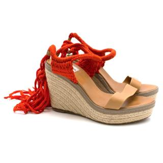 Lanvin Orange Wedges