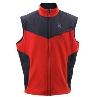 Spyder Red and Black Vest Jacket