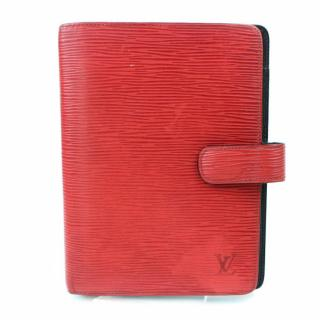 Louis Vuitton Agenda MM Red Epi Diary Cover