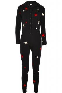 Chinti and Parker Hooded Star intarsia 100% Cashmere Jumpsuit