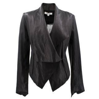 Helmut Lang Black Lamb Leather Jacket