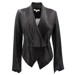Helmut Lang Black Lamb Leather Jacket