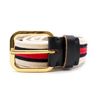 Marni Striped Woven Belt