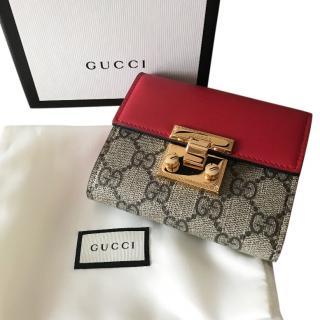 Gucci padlock GG Clutch