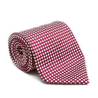 Ermenegildo Zegna Red with White Polkadot Tie