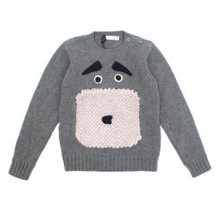 Stella McCartney Grey Dog Wool Jumper
