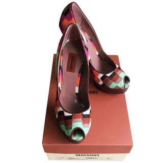 Missoni Peep Toe Pumps  Size 38