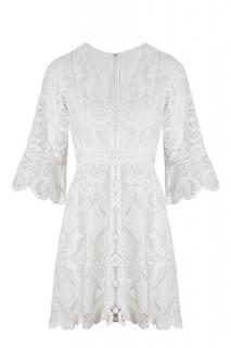 ALEXIS - White Webb Dress