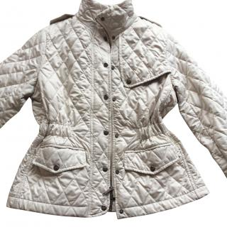 Burberry cream quilted jacket