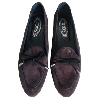 Tod's Flat Suede Loafers