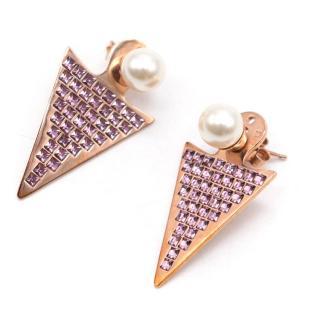 Ca&Lou Stella Triangle Earrings