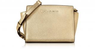 MICHAEL KORS Pale Gold Mini Selma Bag