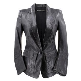 Balenciago Black Leather Jacket