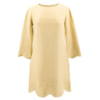 Chloe Yellow Long Sleeved Dress