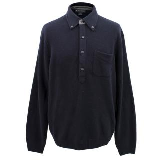 Brooks Brothers Navy Wool Jumper