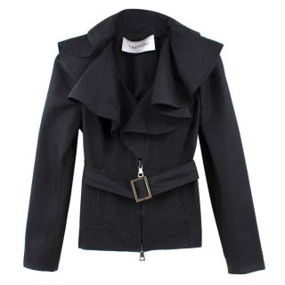 Valentino Black Ruffled Jacket