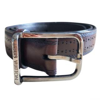 Louis Vuitton brown leather belt