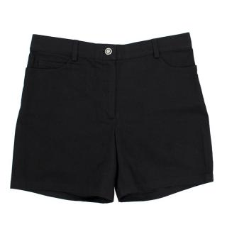 Chanel Black High- waisted Shorts