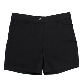 Chanel Black High- waisted Shorts