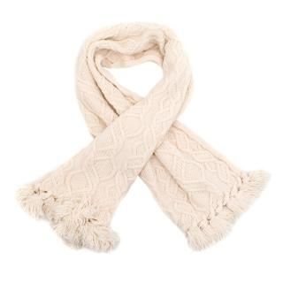 Christian Dior Boutique Cream Wool Scarf