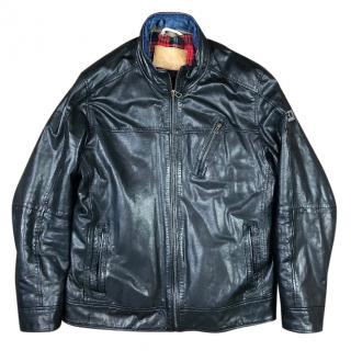 Hugo Boss Jips Leather Cafe Racer Biker Jacket