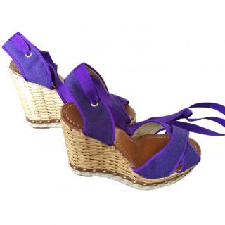 Dolce & Gabbana crisscross sandal wedges